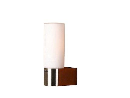 Kinkiet łazienkowy nikiel mat szklany klosz 40W E14 Mirror Candellux 21-84500