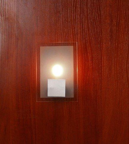 LAMPA ŚCIENNA CANDELLUX WYPRZEDAŻ 91-02900 KARAT KINKIET PROSTOKĄT 1*40W G9 NIKIEL MAT