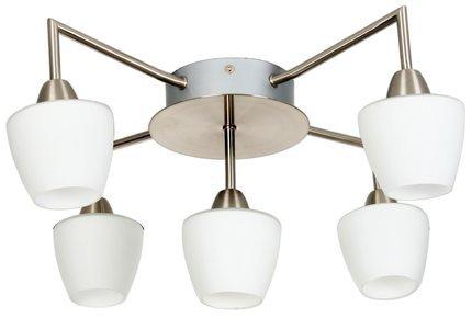 LAMPA SUFITOWA CANDELLUX WYPRZEDAŻ 35-10653 TOGO PLAFON 5X40W G9 NIKIEL MAT