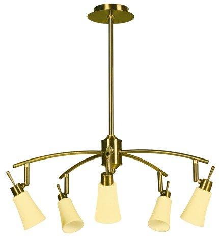 LAMPA SUFITOWA CANDELLUX WYPRZEDAŻ 35-87037 KROTON ZWIS 5X40W G9 PATYNA