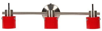 LAMPA SUFITOWA CANDELLUX WYPRZEDAŻ 93-09121 RED LISTWA 3 , 3X50W  G9, SATYNA NIKIEL