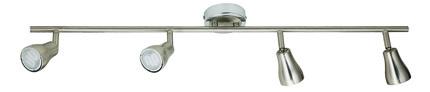 LAMPA SUFITOWA CANDELLUX WYPRZEDAŻ 94-16259 JAWA LISTWA 4X7W GU10 ENERGO  NIKEL MATT