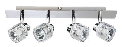LAMPA SUFITOWA CANDELLUX WYPRZEDAŻ 94-28009 DENAR LISTWA 4X50W GU10 CHROM