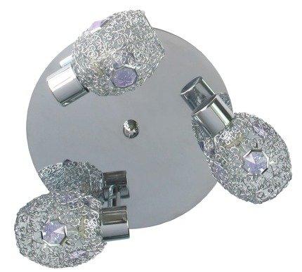 LAMPA SUFITOWA CANDELLUX WYPRZEDAŻ 98-56224 GOLDEN PLAFON 3X40W G9 CHROM FIOLETOWY