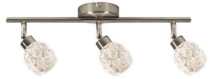 Lampa sufitowa spot listwa 3x40W G9 satyna Milos Outlet Candellux 93-19103