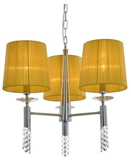 Lampa wisząca LED żółta + krształki Dual 33-23179