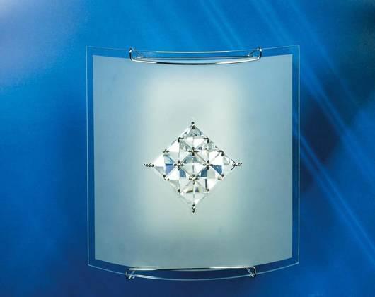 LAMPA SUFITOWA CANDELLUX WYPRZEDAŻ 10-74655 CRISTAL-PLAFON 1X40W E27 BIAŁY 2170/1 ROMB