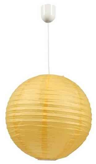 LAMPA SUFITOWA CANDELLUX WYPRZEDAŻ 31-88478 KOKON KULA PAPIEROWA 60 ŻÓŁTY 60W/LINKA