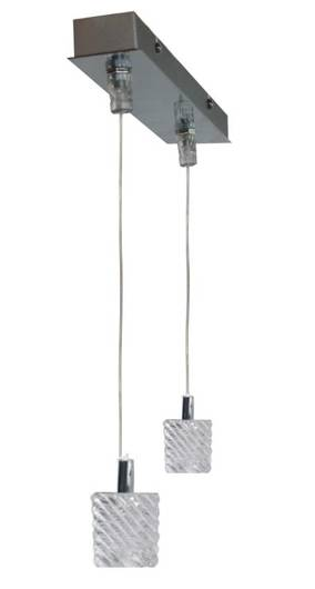 LAMPA SUFITOWA CANDELLUX WYPRZEDAŻ 32-16303 TOSCA ZWIS 2X40W G9 CHROM+KRYSZTAŁ