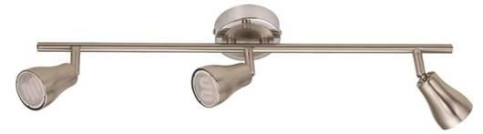 LAMPA SUFITOWA CANDELLUX WYPRZEDAŻ 93-15269 JAWA LISTWA 3X7W GU10 ENERGO  NIKEL MATT