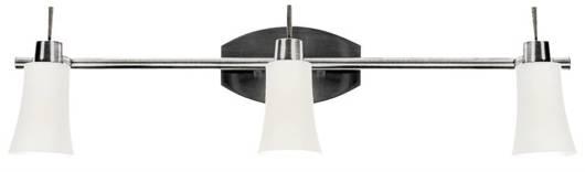 LAMPA SUFITOWA CANDELLUX WYPRZEDAŻ 93-85637 KROTON LISTWA 3X40W G9 NIKIEL MAT/BIAŁY