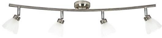 LAMPA SUFITOWA CANDELLUX WYPRZEDAŻ 94-85866 KANGO LISTWA 4X40W G9 NIKIEL MAT/BIAŁY