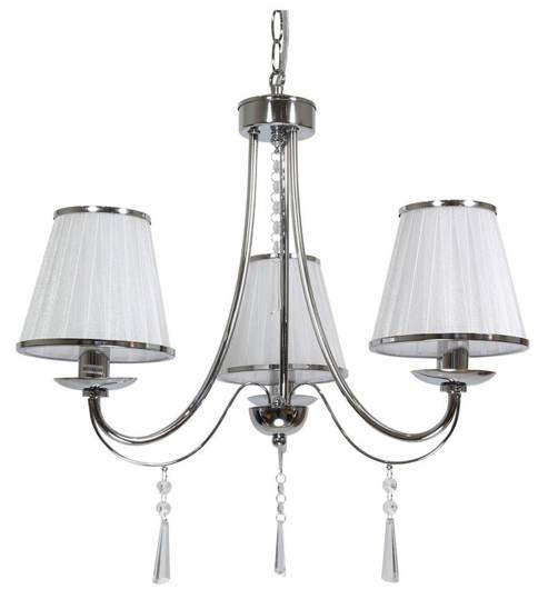 Lampa wisząca chromowa żyrandol 3x40W E14 Oscar 33-31013
