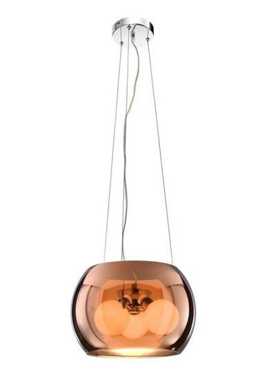 Lampa wisząca sufitowa złota szklana 3x40W G9 Gemo Candellux 31-25104
