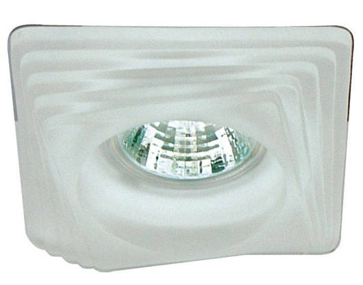 Oprawa stropowa szklana biała kwadratowa SS-01 2240201