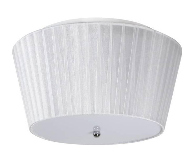 Plafon biały LED 3W + 3x40W G9 abażur z organzy Camea Candellux 98-56245