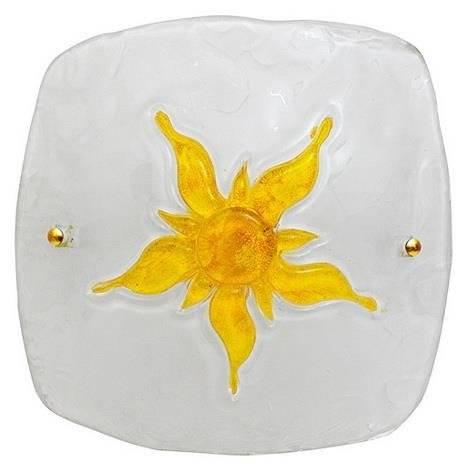 Plafon biały/żółty szklany lampa Sun 13-88614