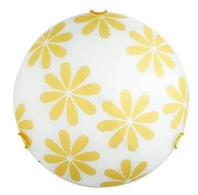 Plafon biały żółty w kwiatki 30cm Lucy 13-95308